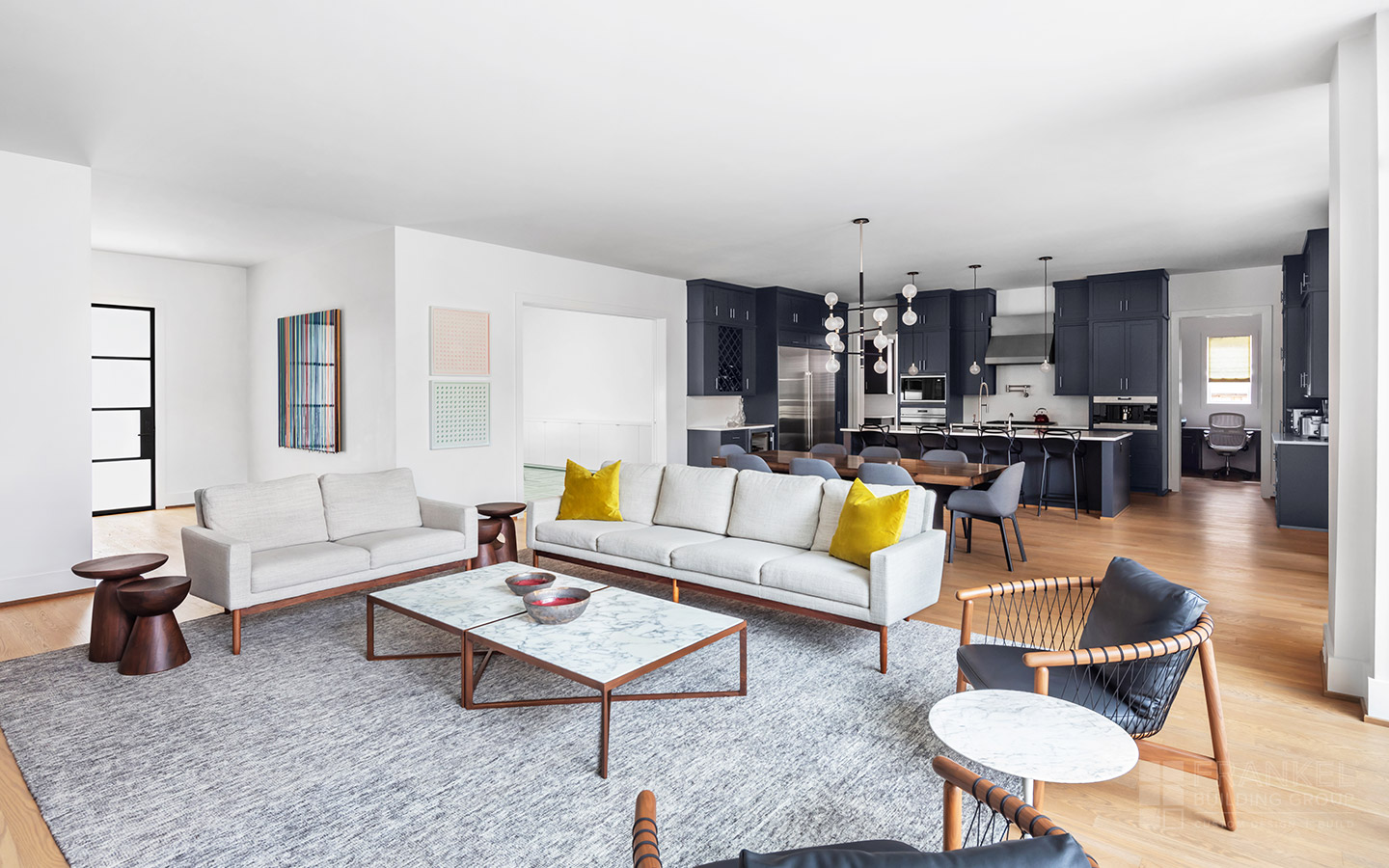 Eclectic Mid-Century Modern living room