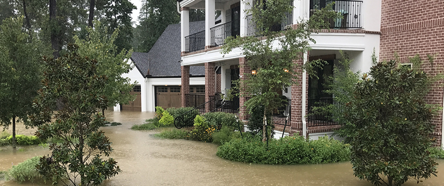 House flooding during Hurricane Harvey