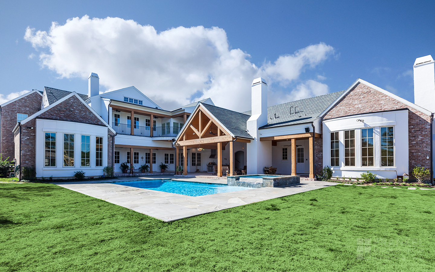 Clean Creole Traditional backyard