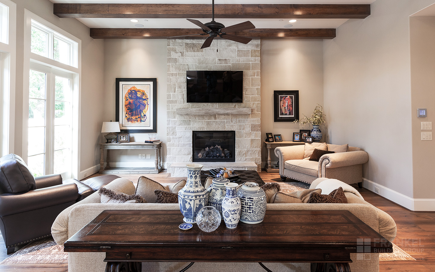 Bellaire Transitional living room