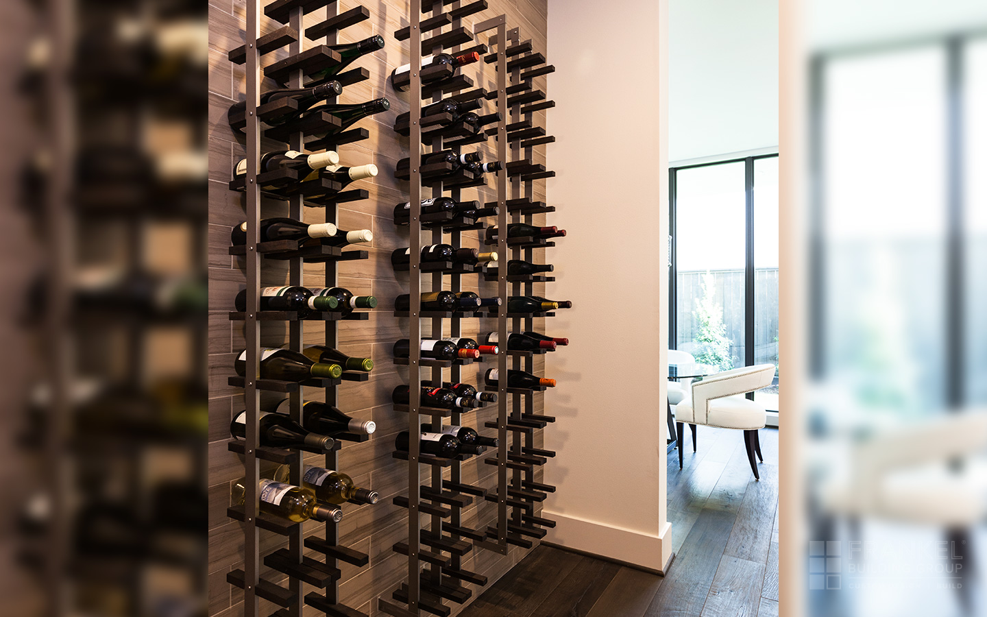 Museum District Modern wine wall