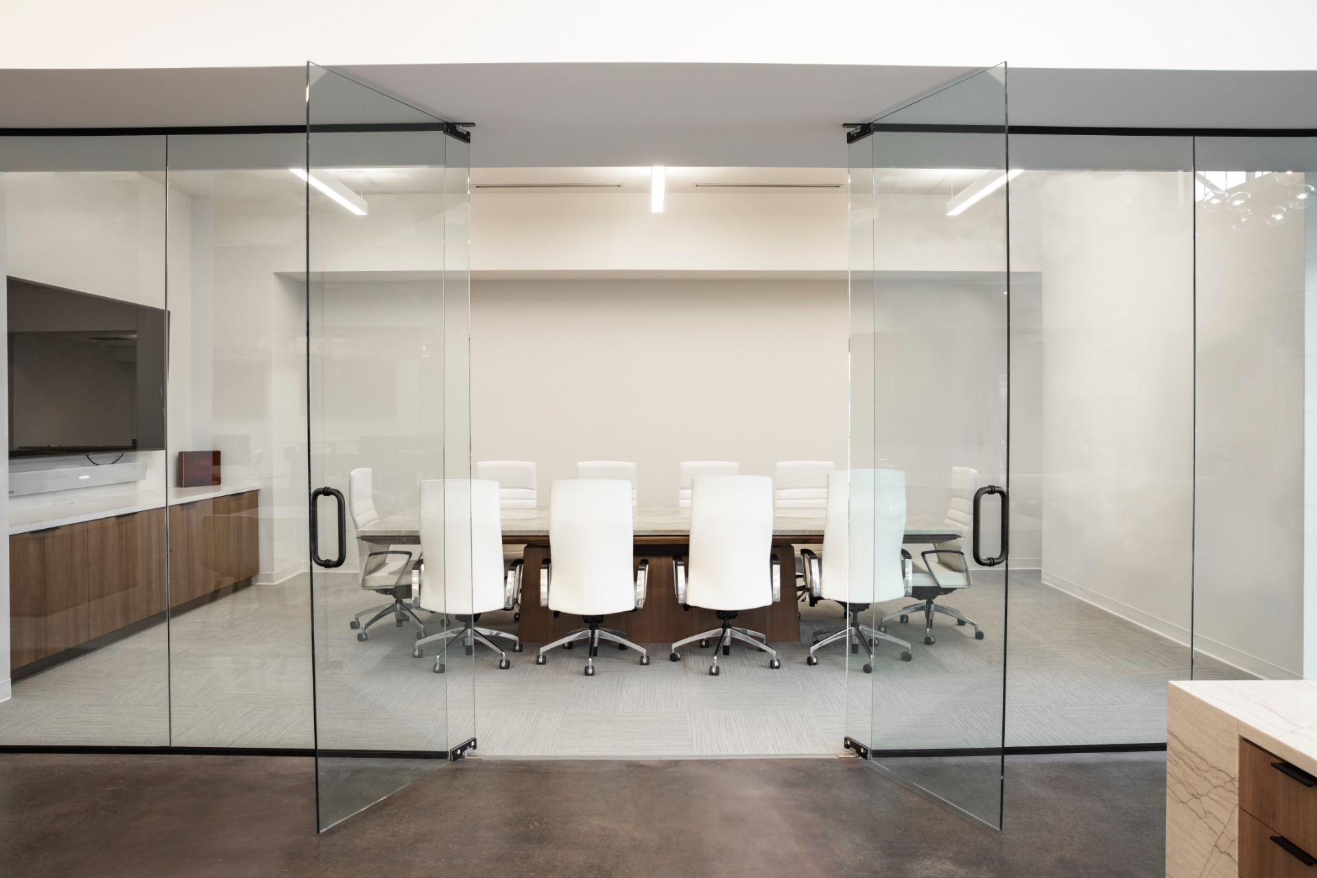 Conference room in Frankel Building Group's office