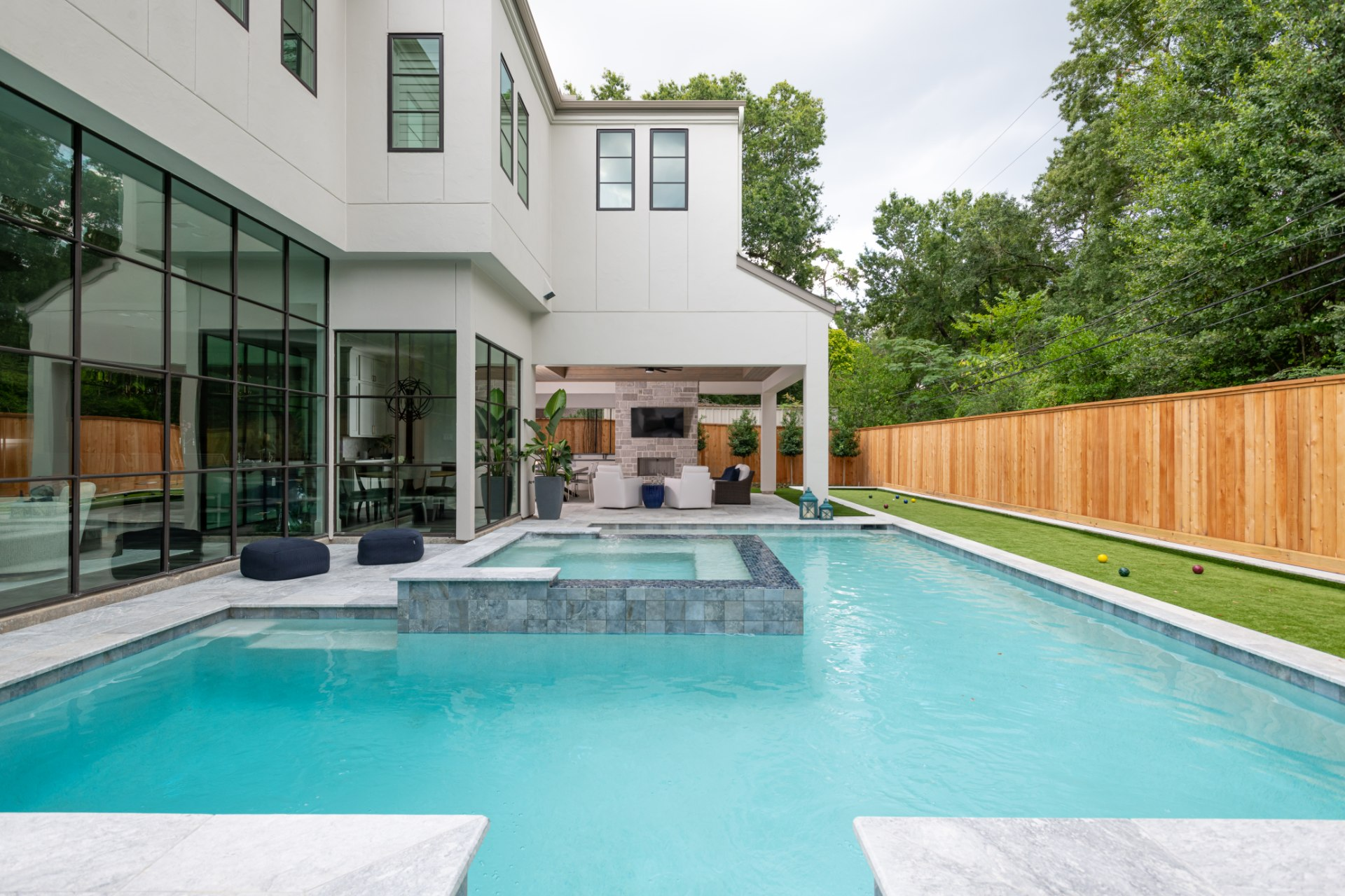 A Frankel home that features a custom pool designed and built be Avea pools
